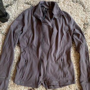 Dusty purple athletic zip jacket